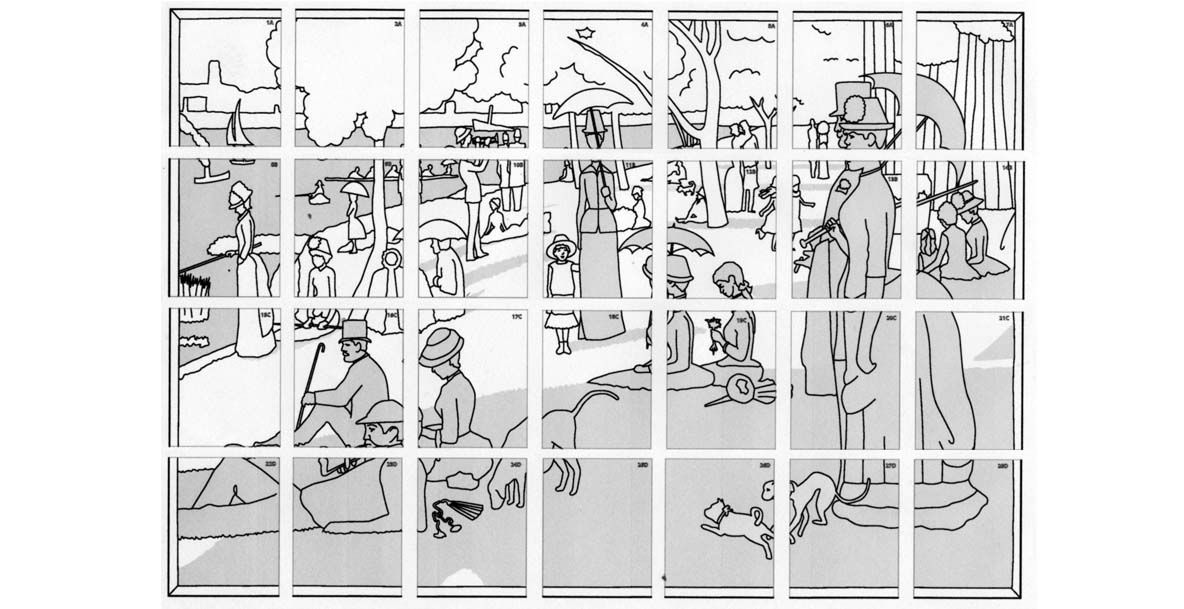 Pointillism Coloring Pages This Mural Has 28 Pages To Color And Is