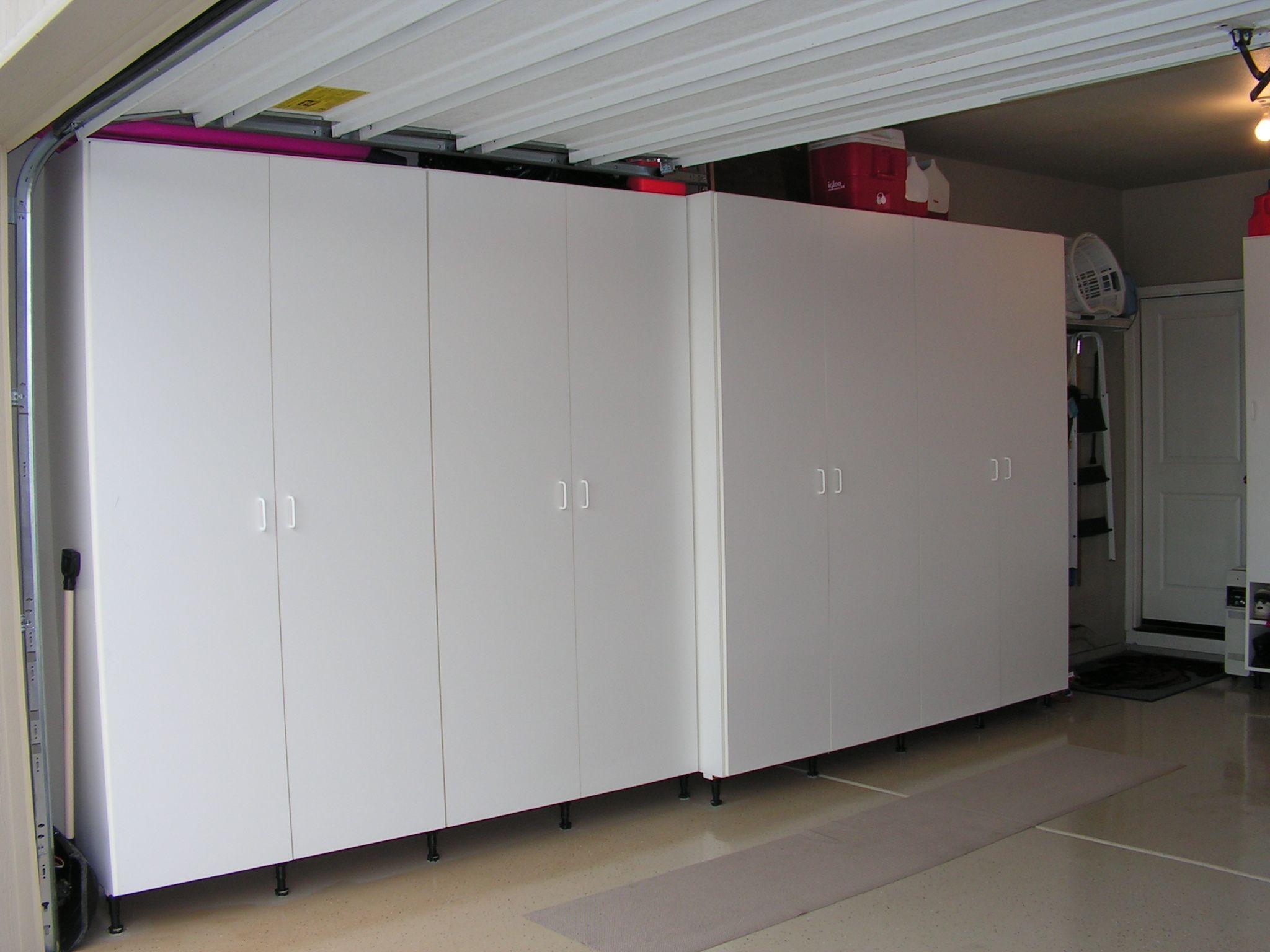 Garage storage rangement pinterest garage storage for Garage attic storage
