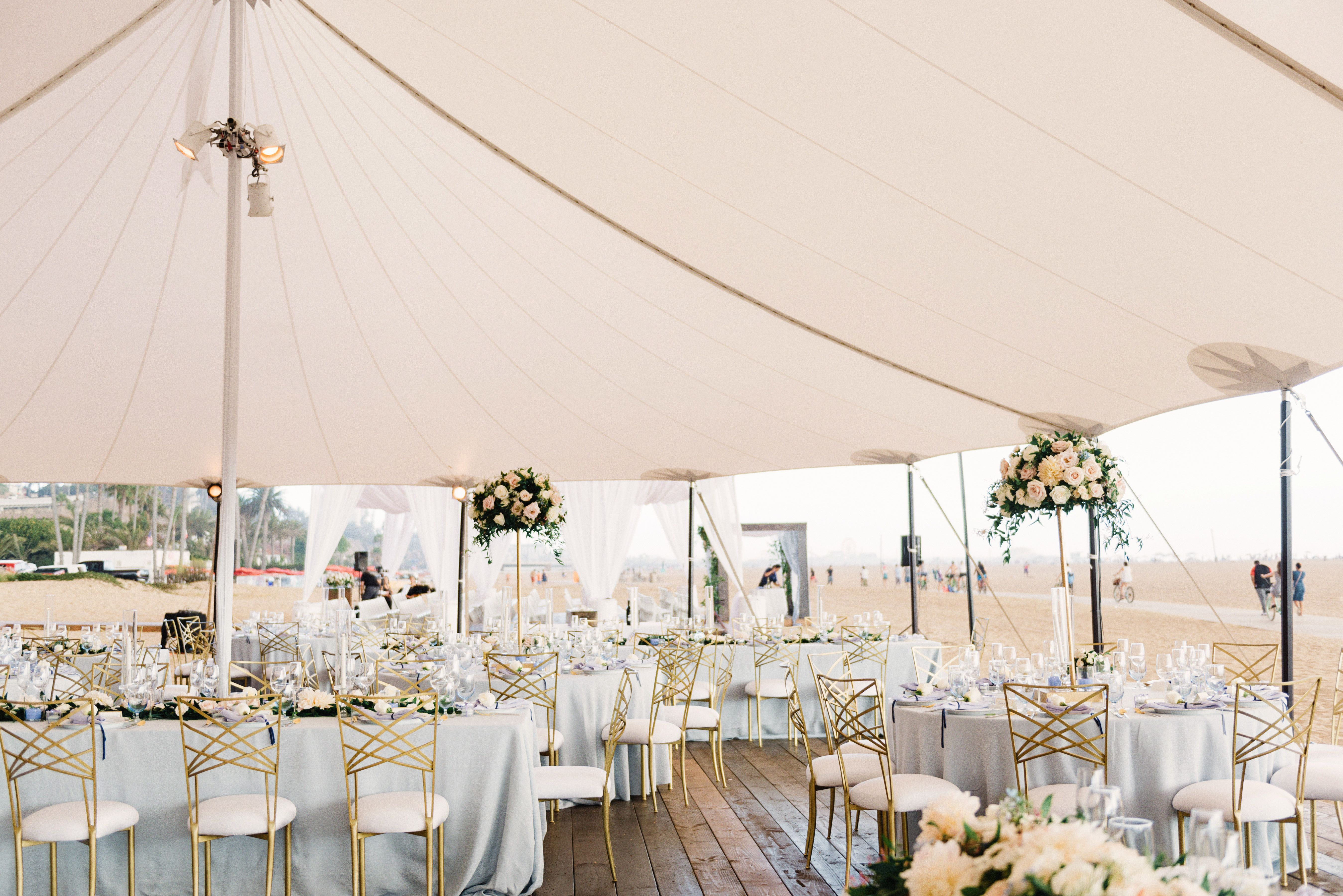 Wedding decorations rental  La Tavola Finen Linen Rental Tuscany Ocean with Tuscany Lilac