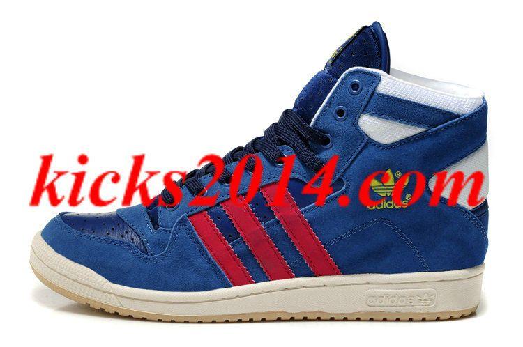 quality design dc6e2 10a5b Adidas Decade High Top Winter Shoes Blue Red White Womens Shoes 2014 1051  -