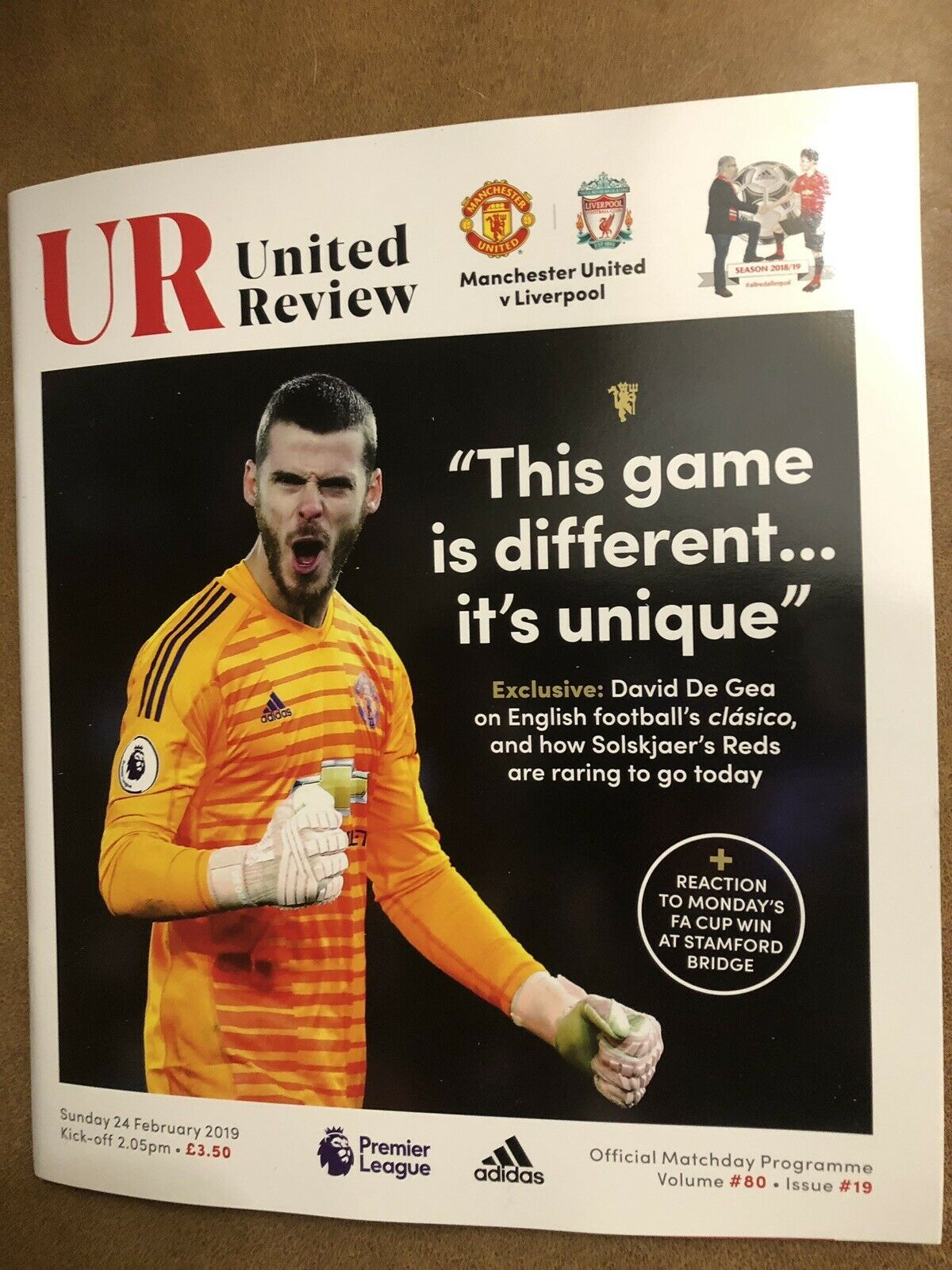 Manchester United V Liverpool Official Matchday Programme 24 2 19 Ebay Manchester United Liverpool Premier League Program