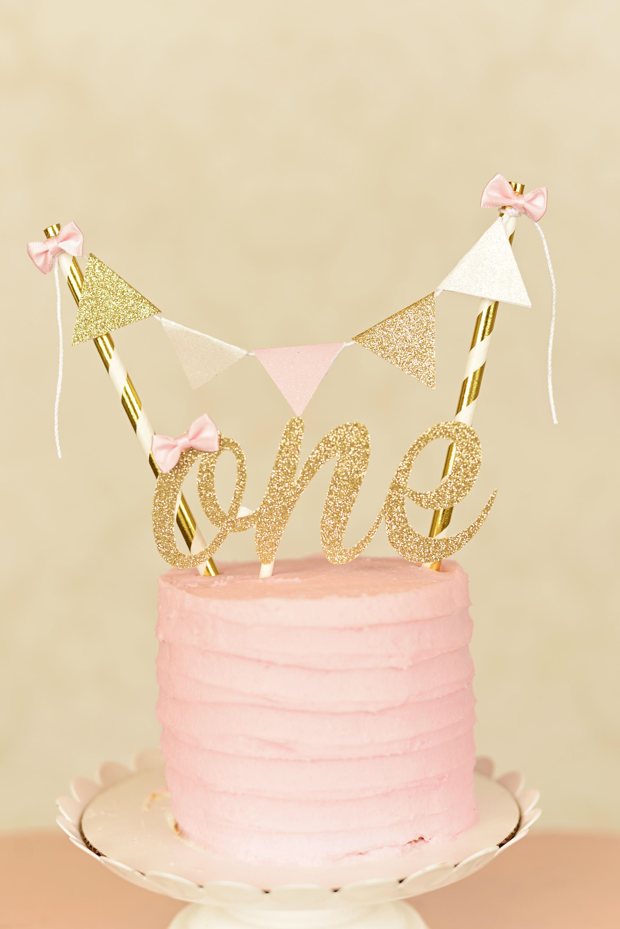 One Cake Topper First Birthday Cake Topper One Smash Cake Set