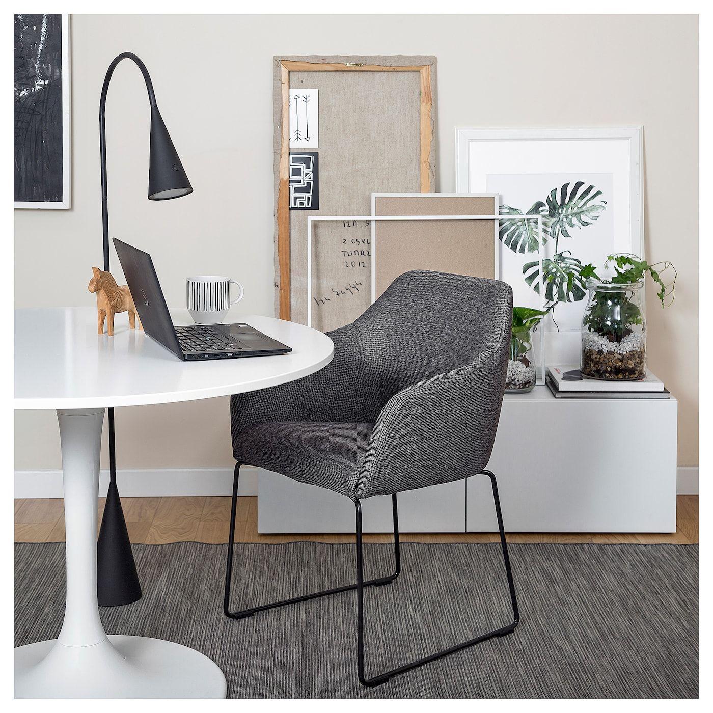IKEA TOSSBERG Chair metal black, gray Metal chairs