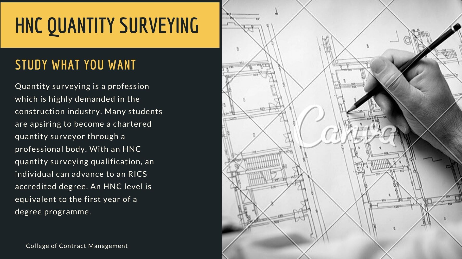 Quantity Surveying Is A Profession Which Is Highly Demanded In The