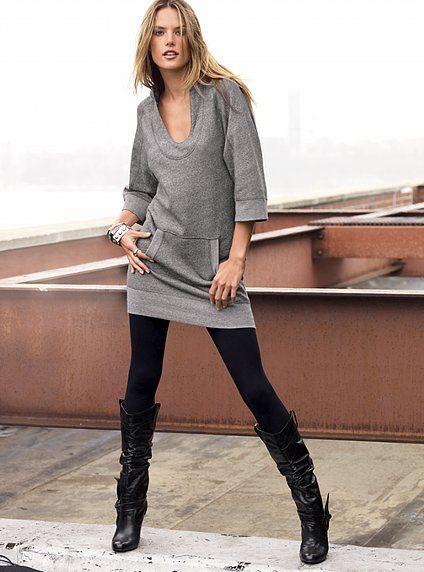 b6484aba6f4 Sweater Tunic Dresses and Leggings | i dream to be fashionable ...