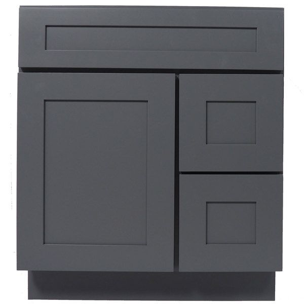 Everyday Cabinets Shaker Gray Wood 30Inch Single Sink Bathroom Mesmerizing 30 Bathroom Vanity With Drawers Decorating Inspiration