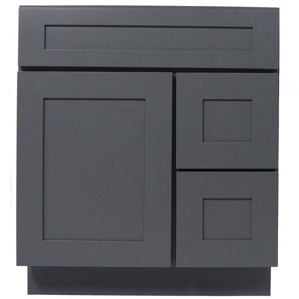Everyday Cabinets Shaker Gray Wood 30Inch Single Sink Bathroom Mesmerizing 30 Bathroom Vanity With Drawers Decorating Inspiration