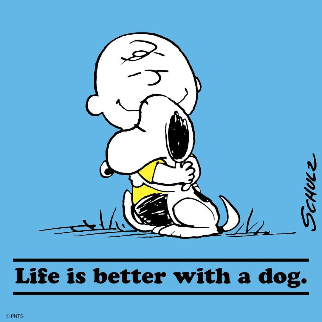 "on National Dog Day Snoopy And The Peanuts Gang ""Happy"