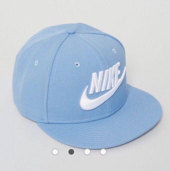 NIKE FUTURA 2 TRUE FLAT BILL SNAPBACK HAT LIGHT BLUE WHITE 584169-436   fashion  clothing  shoes  accessories  mensaccessories  hats (ebay link) 9867295082ce