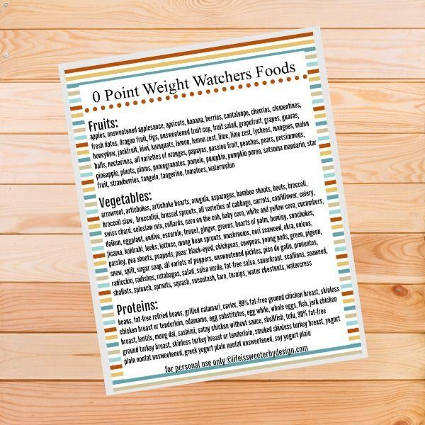 weight watchers freestyle program zero point foods
