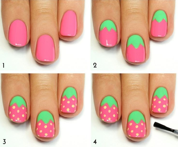 Qué opinas de estas frescas ideas para tus uñas?   1001 Diseños de ...