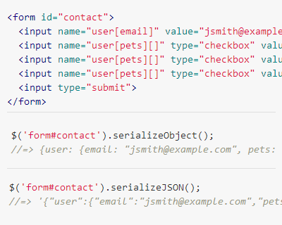 Jquery Serialize Object Jquery Plugins Object