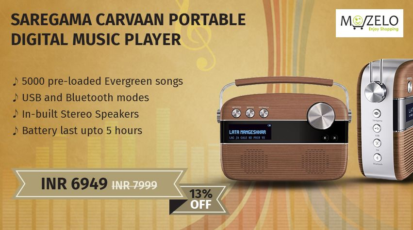 Saregama Carvaan radio Portable Digital Music Player (Oak