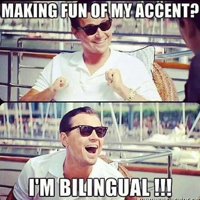 Resultado de imagen para you make fun of me because i speak with an accent