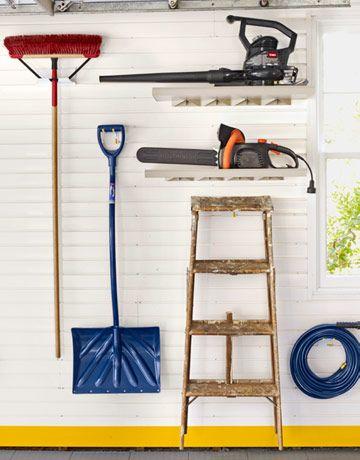 Before After A Garage Gets An Organization Overhaul Garage Decor Garden Tool Storage Garage Makeover