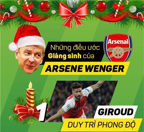 Điều ước của HLV Arsene Wenger trong Giáng sinh này?