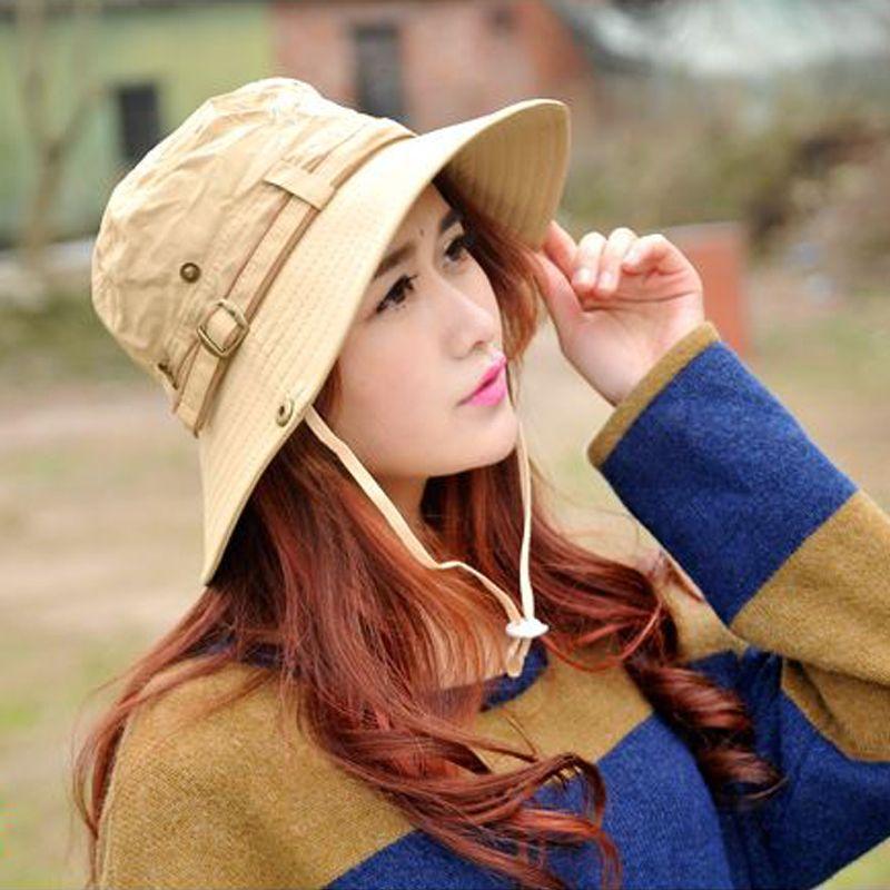 c6cdca6736 Men's outdoor summer fishing cap fisherman pots hat women sun hat large  brimmed fishing mountaineering Hats Free shipping