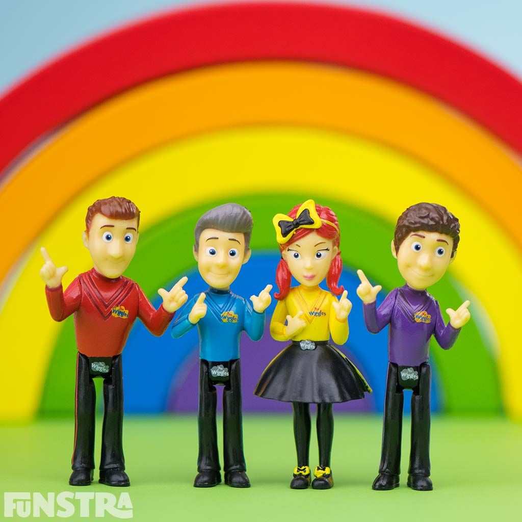 TV & Movie Character Toys THE WIGGLES 4 PACK of Figures 3 inch