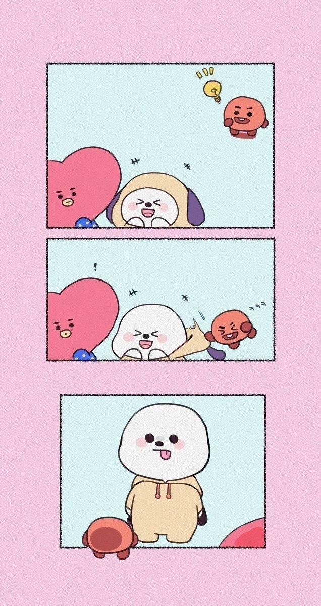 Photo of • 방탄소년단 캐릭터  BTS 배경화면/잠금화면 모음! : 네이버…