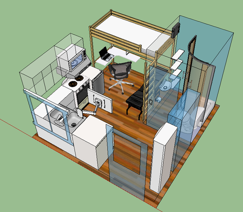tiny house floor plans 8x8 google search - Micro House