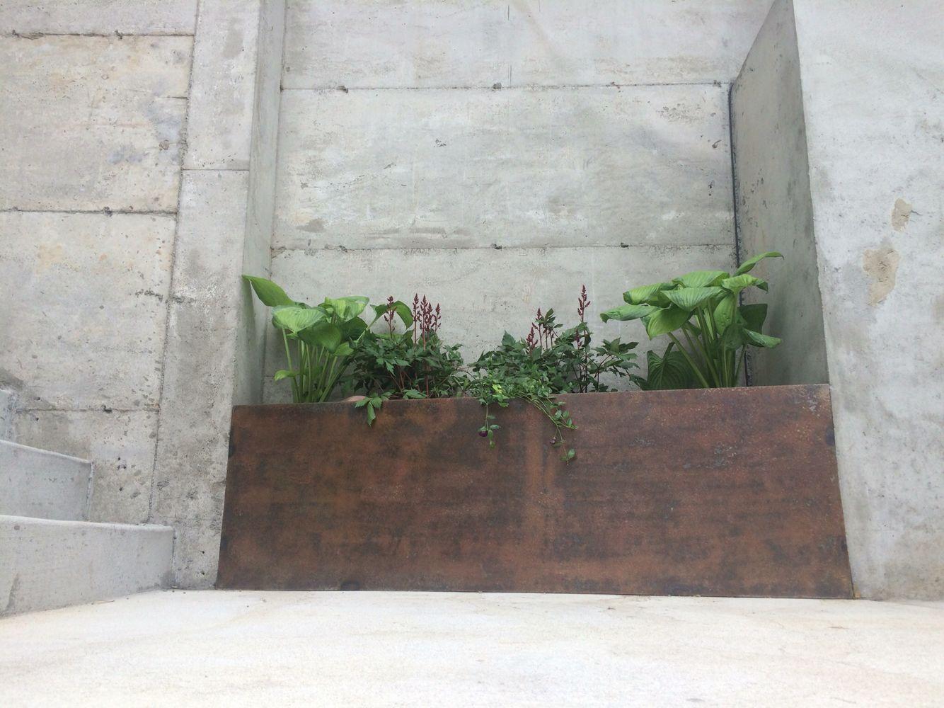 Patina Planter Box Concrete Wall Planter Boxes Concrete Wall Planters