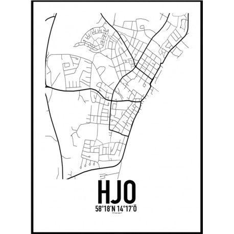 Hjo Karta Poster Hitta Dina Posters Online Hos
