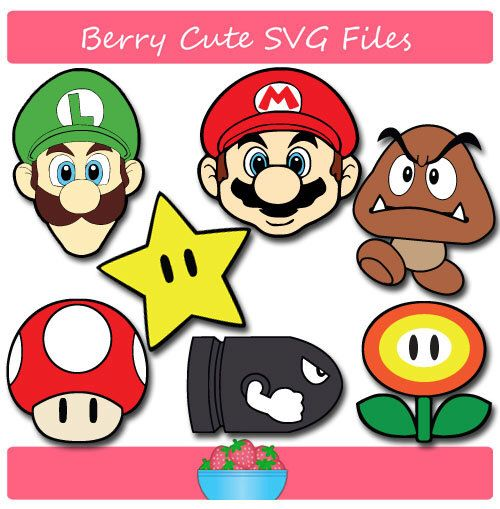 Super Mario Brothers Svg File By Berrycutesvgfiles On Etsy Https Www Etsy Com Listing 3979 Super Mario Brothers Party Mario Crafts Super Mario Birthday Party