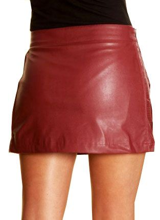 Zipper Leather Mini Skirt - 50 Colors | Nice leather fashion ...