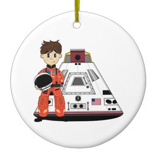Cute Spaceman Ornament | Zazzle.com | Ornaments, Cute ...