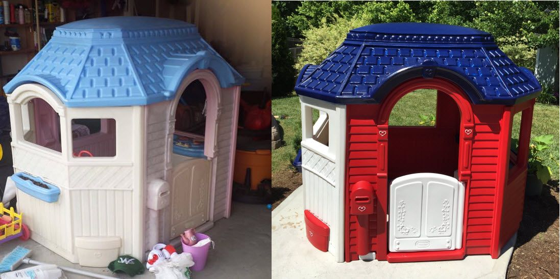 Little Tikes Victorian Playhouse Remodel Play Houses