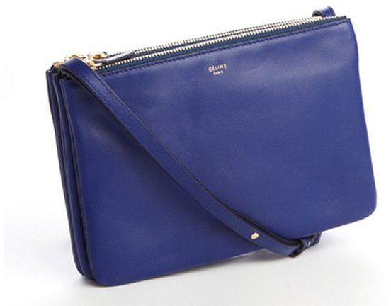 ee3fa54a8 Celine indigo lambskin 'Trio' crossbody bag on shopstyle.com | bag ...