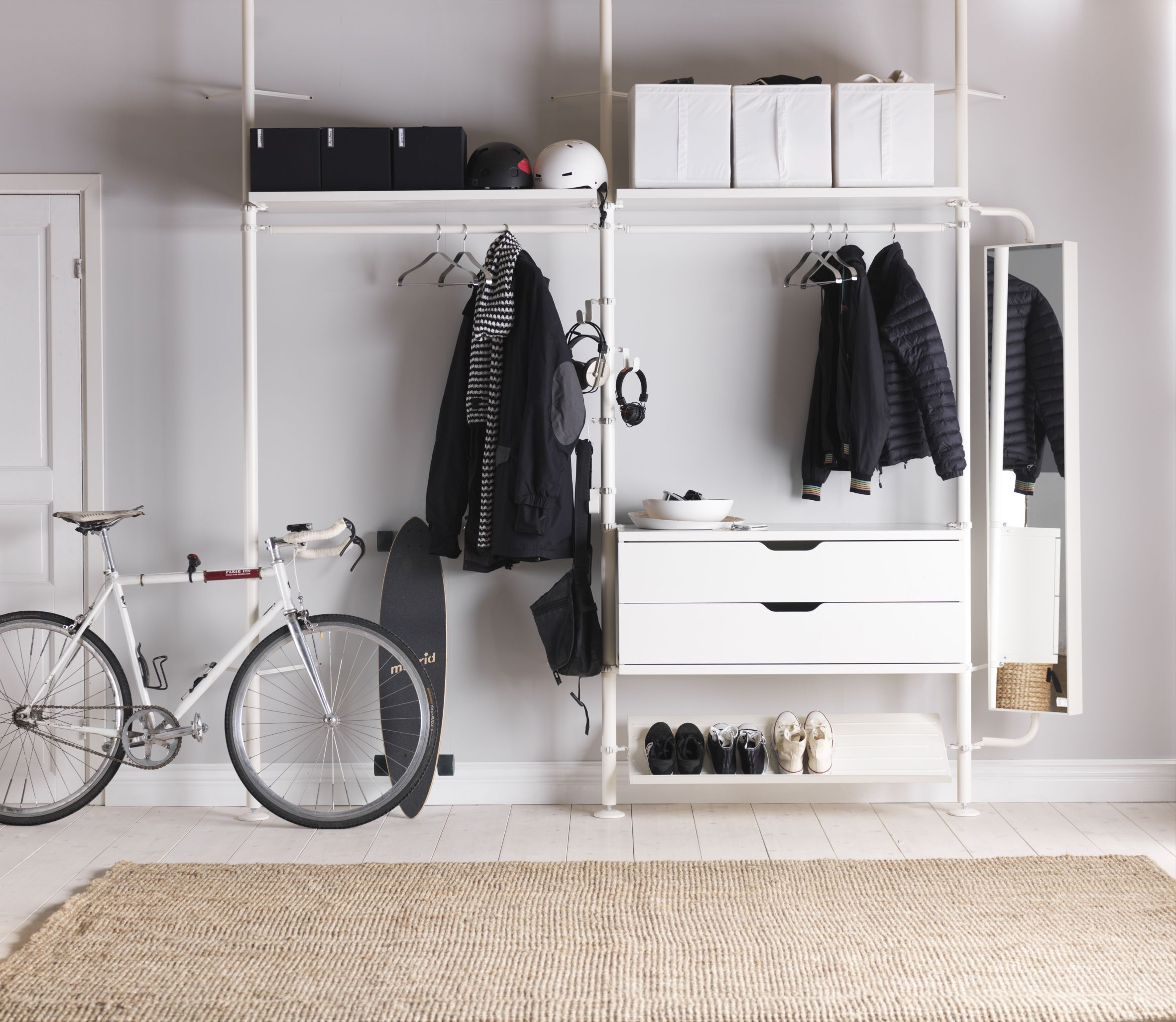 IKEA STOLMEN System | Home Entrance | Pinterest | Einbauschrank ...