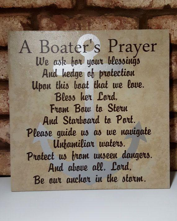 Boater S Prayer Boating Prayer Love My Boat By