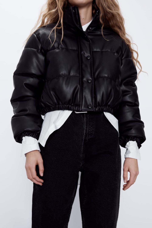 Pikowana Kurtka Ze Sztucznej Skory Zara Polska Leather Puffer Jacket Zara Leather Jacket Girls Puffer Jacket [ 1500 x 1000 Pixel ]