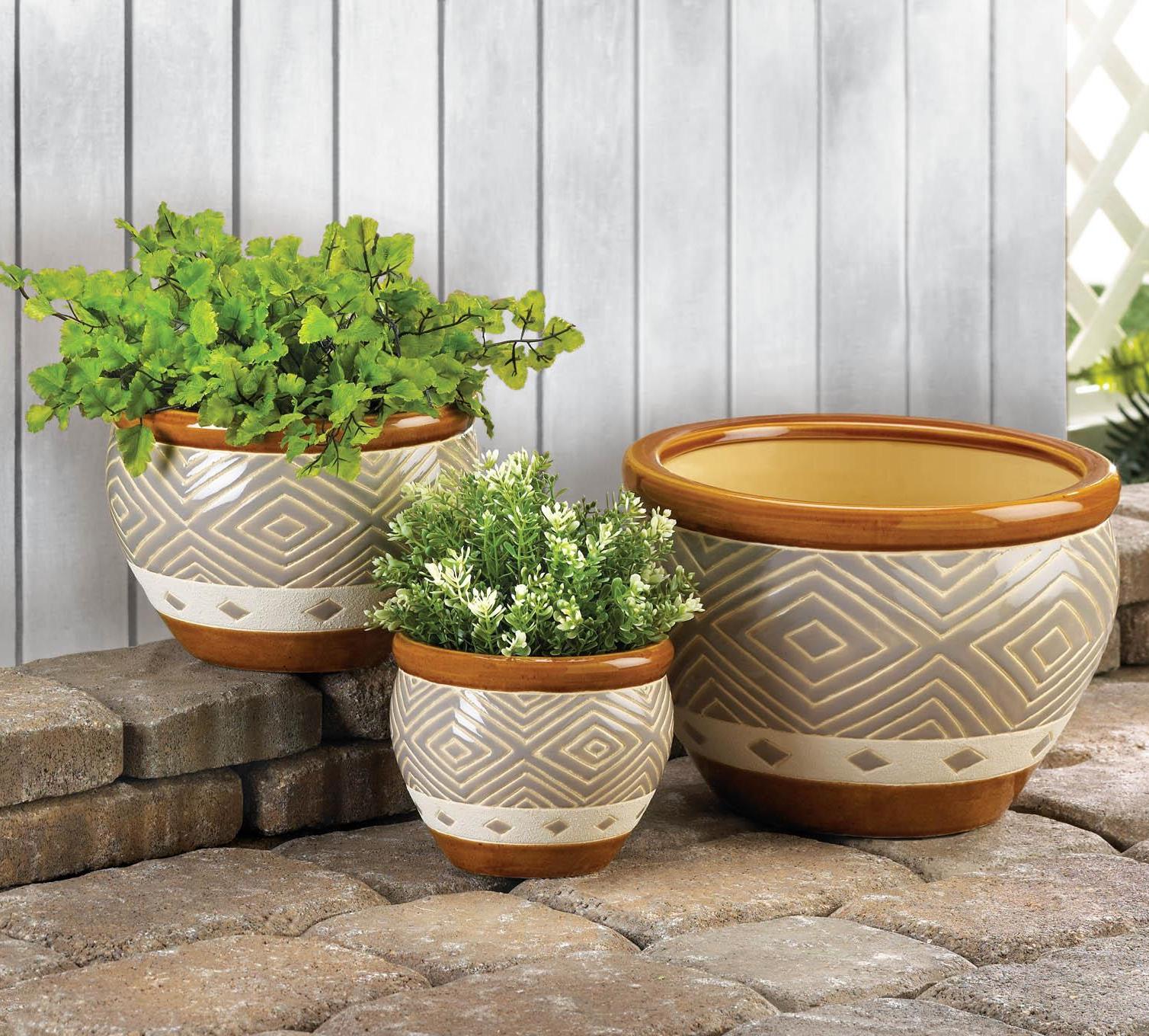 Yellow Ceramic Plant Pots Planters Planter Pots Outdoor Ceramic Flower Pots