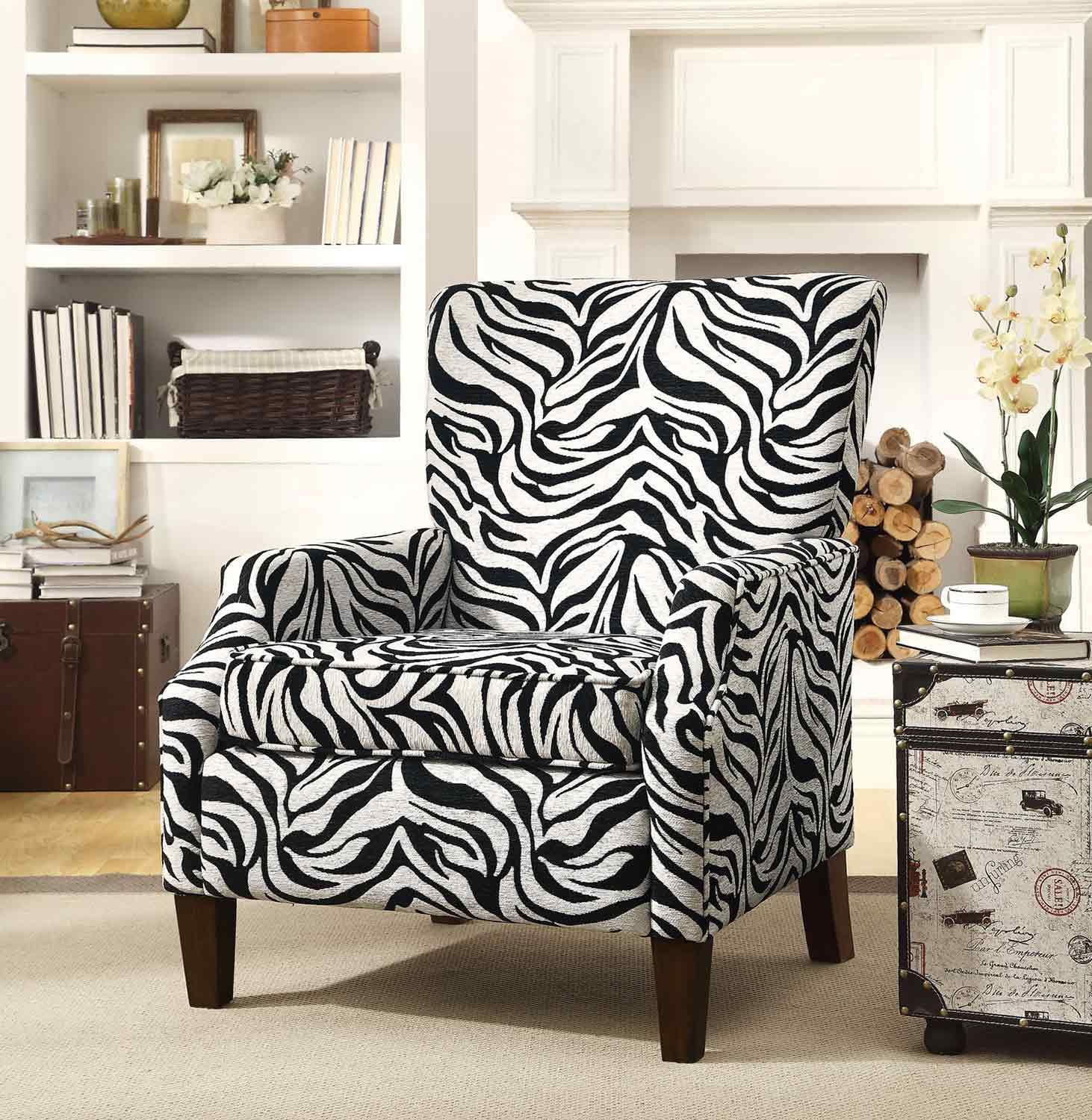 Coaster 10 Accent Chair  Printed chair living room, Pattern