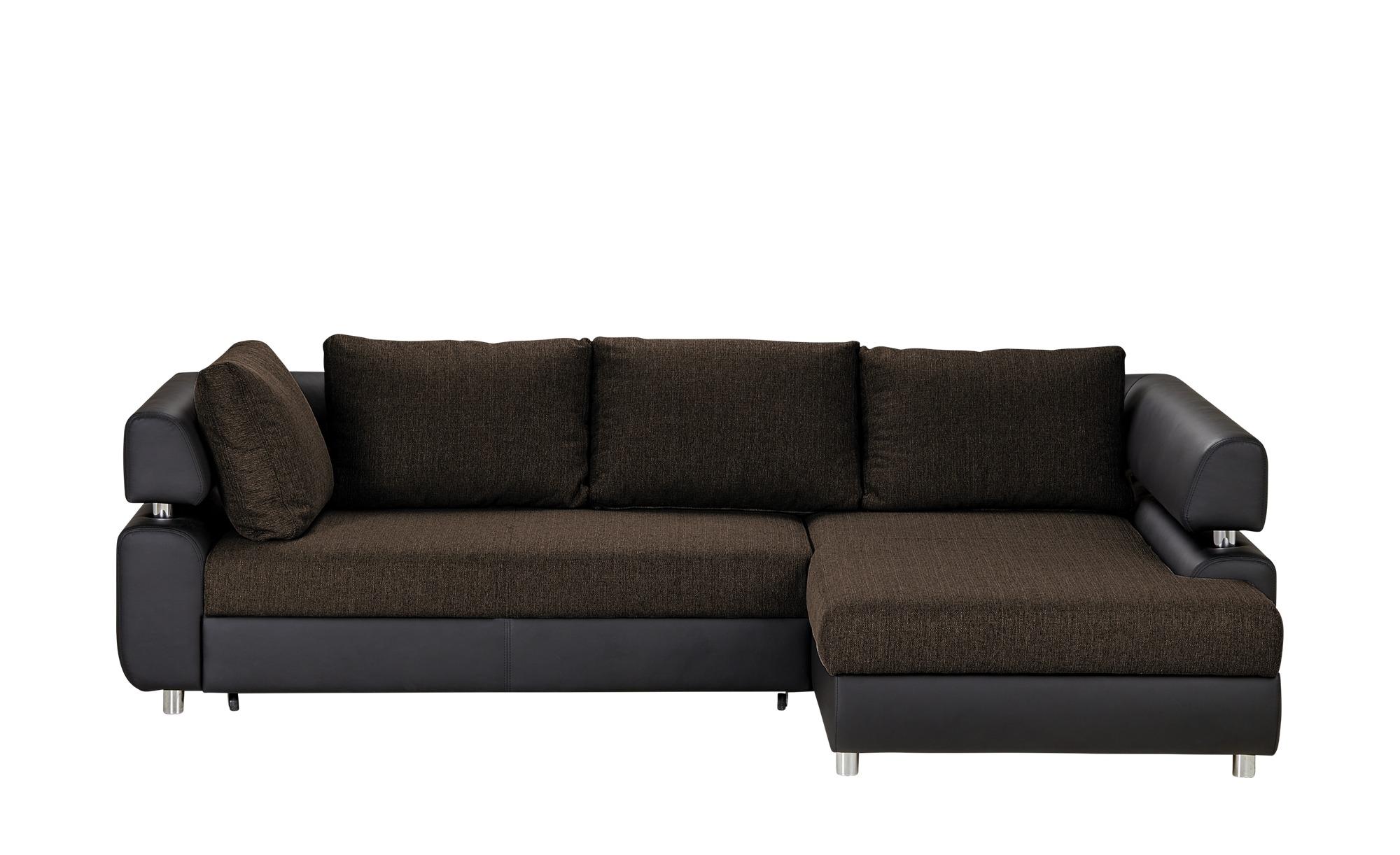 Switch Ecksofa Mit Schlaffunktion Schwarz Braun Kunstleder Webstoff Panama Big Sofa Kaufen Sofa Leder Und Ecksofas