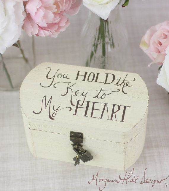 Ring Bearer Pillow Box Rustic Wedding Decor Lock and Key (Item Number 130056) on Etsy, $45.00