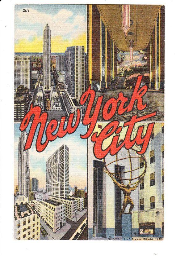 New York City Vintage Postcard Unused Vintage Postcard Postcard Nyc History