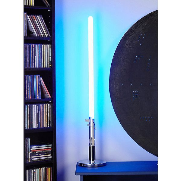 Star Wars Luke Skywalker Lightsaber LED Desk Lamp ($50) ❤ Liked On Polyvore  Featuring