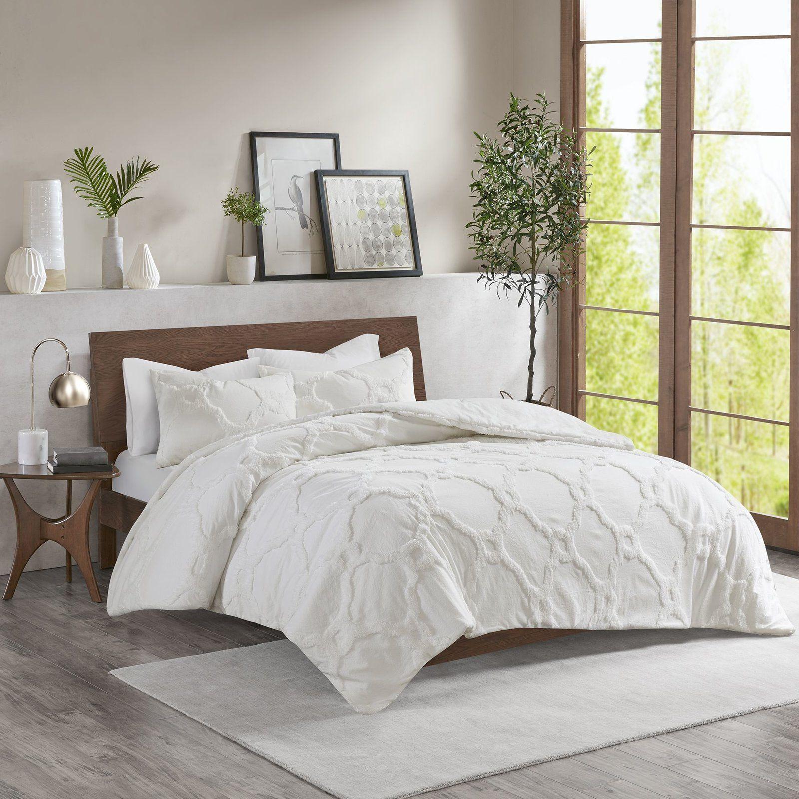 Mize Cotton Chenille Duvet Cover Set Comforter Sets Duvet Cover