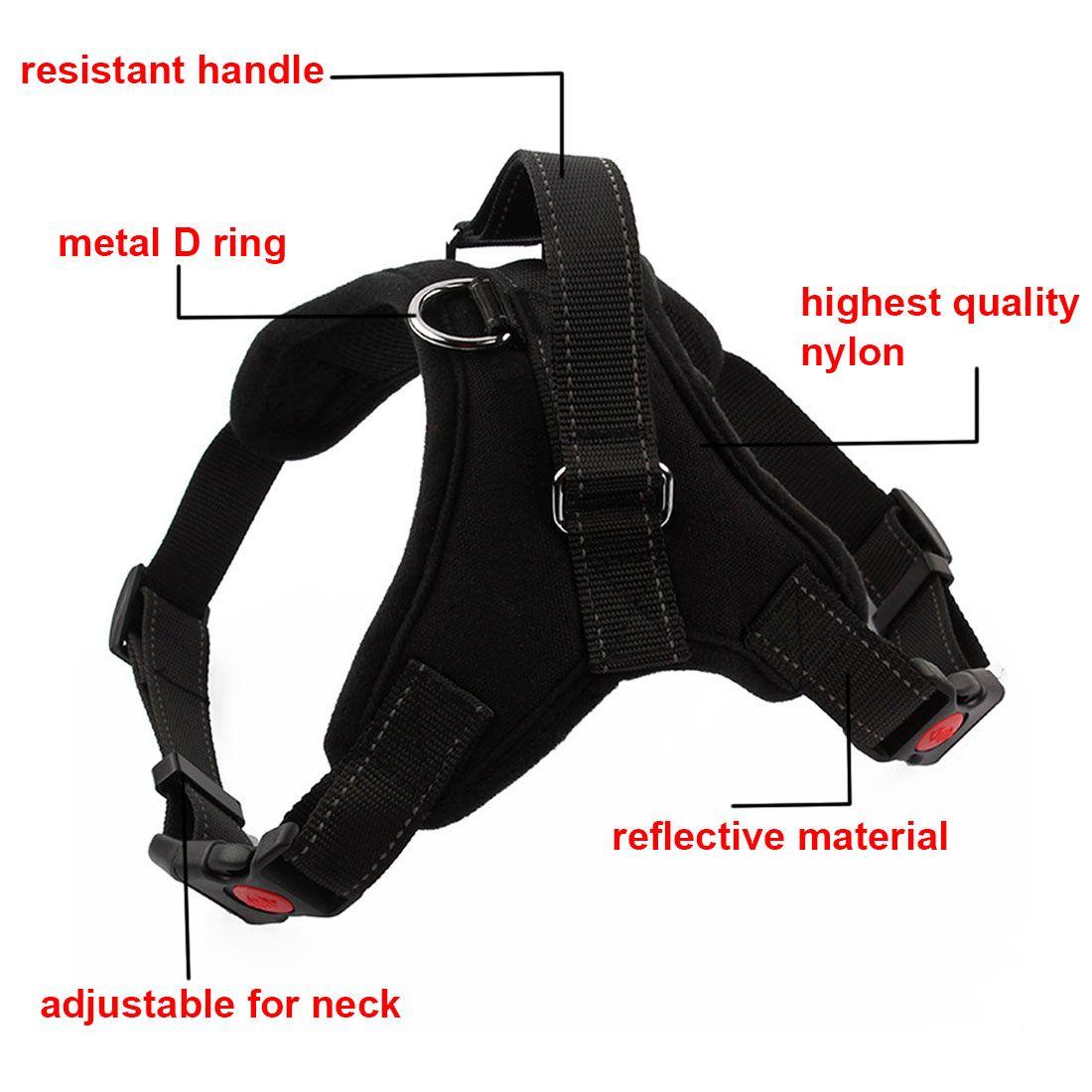Adjustable dog harness vest padded for large medium small