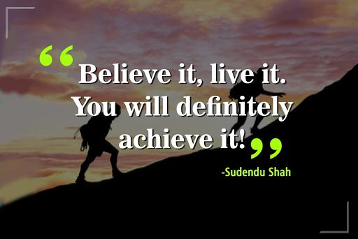 Sudendu Shah Positive Attitude Inspire Me Motivation