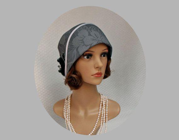 5b2c48df08ef03 Downton Abbey Style Black Ladies Flapper Hat