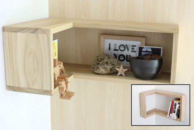 How To Make A Floating Corner Shelf Diy Home Decor Projects Bookshelves Diy Corner Shelf Design
