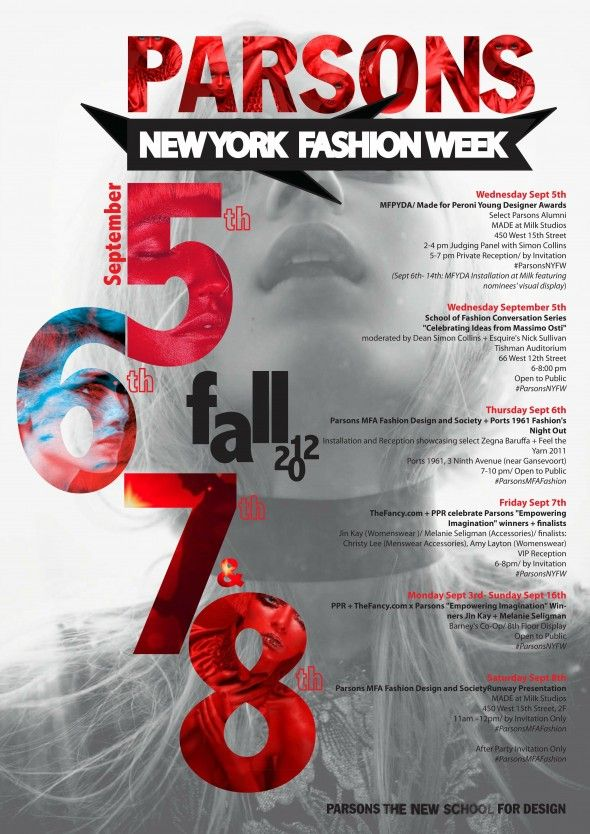 New York Fashion Week @ Parsons The New School for Design - fashion poster design