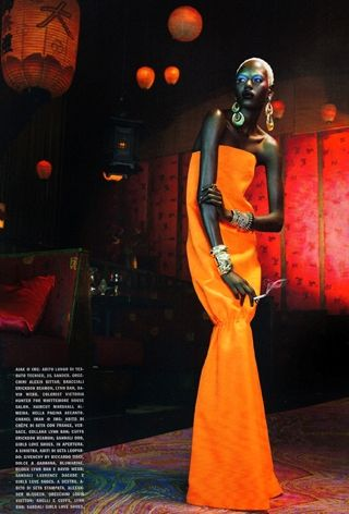 Vogue Italia's -- The Black Allure.  Note: the smoke from the cig..such a miniscule detail, but with a huge impact in the image.