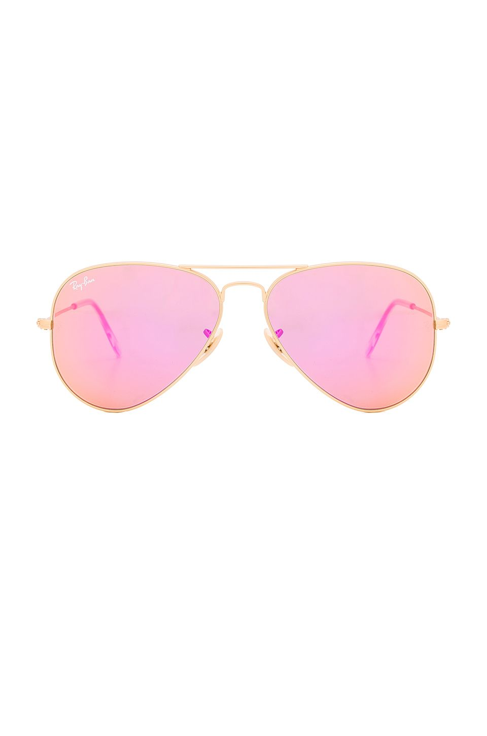 Ray-Ban Aviator Flash Lenses in Gold   Cyclamen Mirror  170  a62314a404
