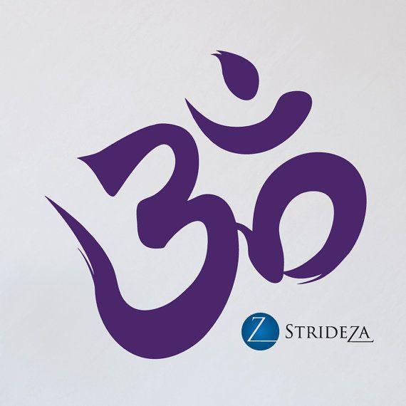 Om Wall Art Om Decal Om Decor Om Art Yoga Symbol Yoga Decal