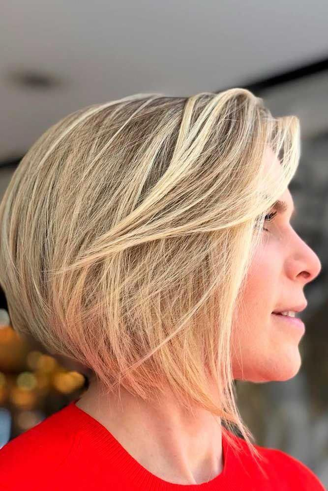 Concave Bob #blondehair #layeredhairstyle ★ Do you know how modern edgy bob haircuts can change your look for the better? Read this post and see our ideas to rock 2019 with a perfect cut! Long layered bobs with bangs, short blunt ideas, inverted and choppy cuts, and lots of inspo-pics are here! #glaminati #lifestyle #edgybobhaircuts #layeredbob #edgybob Concave Bob #blondehair #layeredhairstyle ★ Do you know how modern edgy bob haircuts can change your look for the better? Read this post and #edgybob